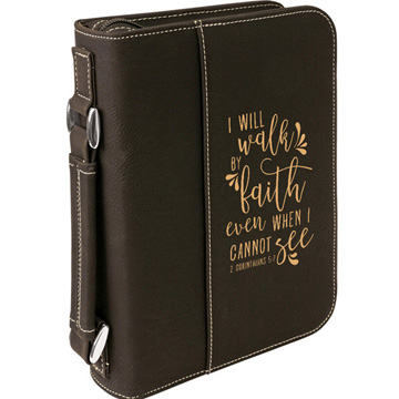 I Will Walk By Faith Bible Cover