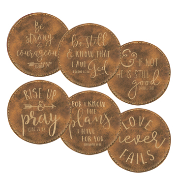 Bible Verse Coaster Set of 6