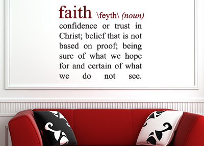 Faith Definition Vinyl Wall Statement