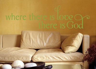 Where There Is Love Vinyl Wall Statement