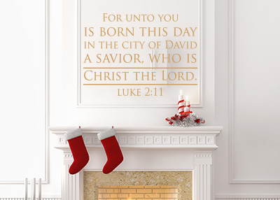 Unto You Is Born This Day Vinyl Wall Statement