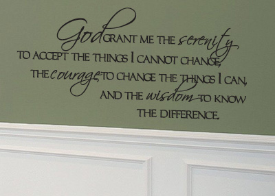 Grant Me the Serenity Vinyl Wall Statement