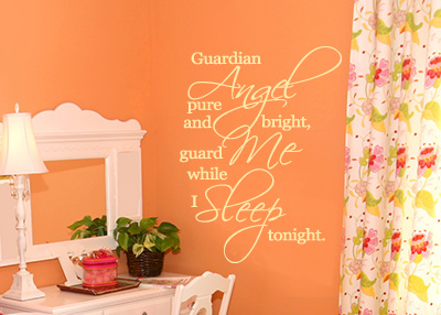 Guardian Angel Vinyl Wall Statement