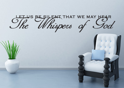 The Whispers of God Vinyl Wall Statement