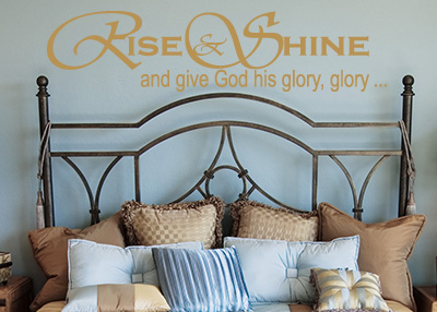 Rise and Shine Vinyl Wall Statement