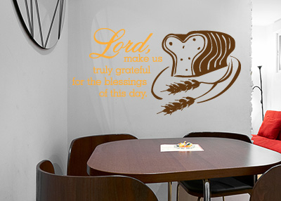 Make Us Truly Grateful Vinyl Wall Statement