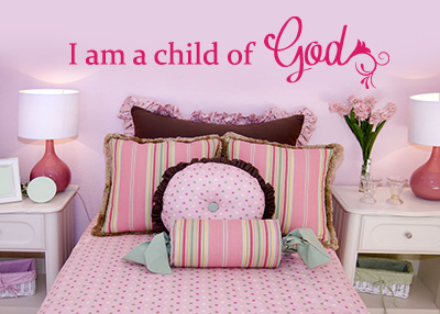 I Am a Child of God Vinyl Wall Statement