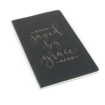Saved By Grace Laser Etched Moleskine Journal