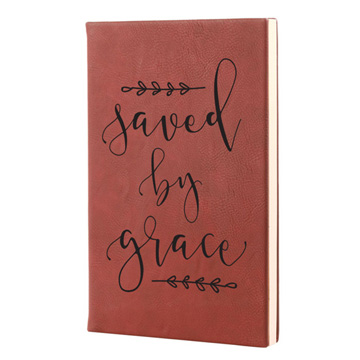 Saved By Grace Leatherette Journal