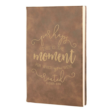 Perhaps This Is The Moment Leatherette Journal