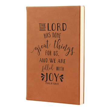 The Lord Has Done Great Things Leatherette Journal