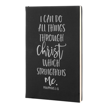 I Can Do All Things Leatherette Journal