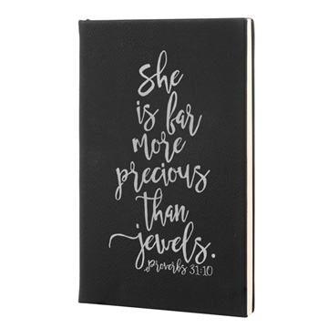 She Is Far More Leatherette Journal