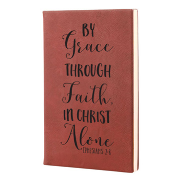 By Grace Through Faith Leatherette Journal