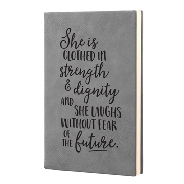 She Is Clothed In Strength And Leatherette Journal
