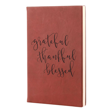 Grateful Thankful Blessed Leatherette Journal