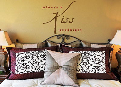 Always a Kiss Goodnight Vinyl Wall Statement