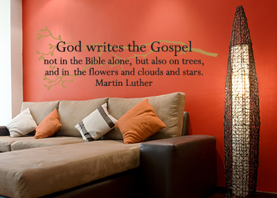 God Writes the Gospel Vinyl Wall Statement