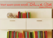 Visit Many Good Books Vinyl Wall Statement