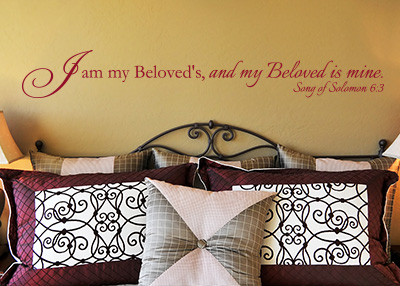 I Am My Beloved's Vinyl Wall Statement - Song of Solomon 6:3